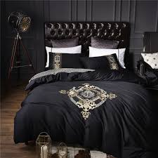 black and white duvet covers. Contemporary Black 4Pcs 100 Cotton Black White Silver Luxury Bedding SetsBedclothes King  Queen Size Duvet Intended And Covers