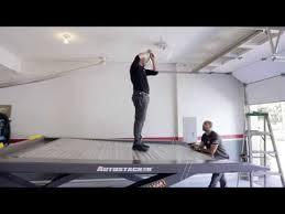 raising garage door tracks installing liftmaster 8500 opener