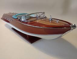 model riva ariston 67 cm precious wooden boat model