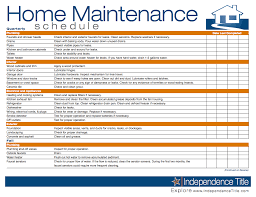 Home Maintenance Schedule Spreadsheet Home Maintenance Schedule In 2019 Home Maintenance