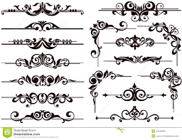 Decorative Design Works Vector Ornaments Frames Corners Borders Stock Vector 2