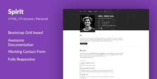 Resume Website Templates New Developer Resume Website Templates From ThemeForest