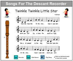 Twinkle Twinkle Little Star Recorder Finger Chart Moteljolo