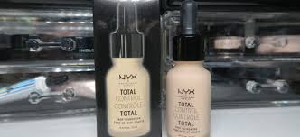 Nyx Foundation Color Chart Review Comparison Swatches New Nyx Total Control Drop