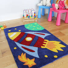 kids bedroom rugs small 70x100cm blue red kids playroom mat easy clean soft