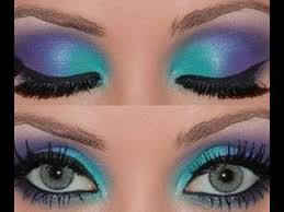tutorial fantasy mermaid makeup sparkle eyes