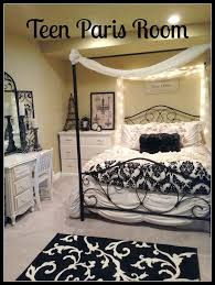 red black paris themed bedroom