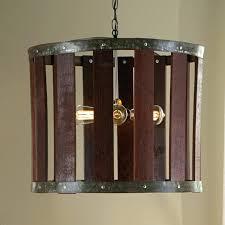 outdoor wine barrel chandelier preparing zoom