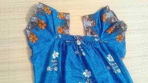 Baby Nighty Designs Elastic Neck Design Cutting And Stitching Elastic Night Dress Neck Design Stitching Method
