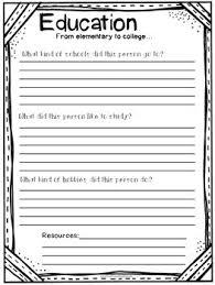 Biography Report Research Template Project 3rd 4th 5th Grade No Prep Common Core
