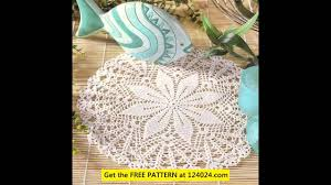 Oval Crochet Doily Patterns Free Gorgeous Oval Crochet Doily Patterns YouTube