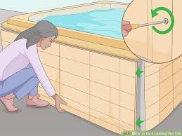4 ways to fix a leaking hot tub wikihow image titled fix a leaking hot tub step 2