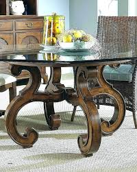dining table base kits round wood kitchen delightful bases for glass tables top coffee wooden pedestal