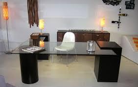 glass office furniture desk modern glass office desk