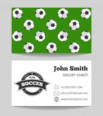 Soccer Business Card Soccer Club Business Card Both Sides Template Vector
