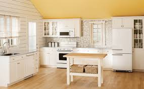 vintage kitchen ideas with white wall and stainless steel sink