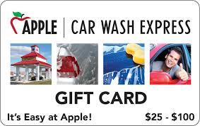 apple car wash 25 100 gift cards