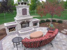 outdoor fireplace designs landscaping