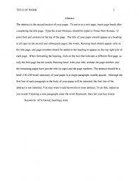Research Paper Apa Sample 001 Nursing Research Paper Format Apa Sample Scf Page
