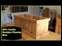 diy cedar garden planter box you