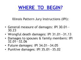 Illinois Pattern Jury Instructions Cool DAMAGES WHAT WHEN HOW Judge Lynn M Egan Judge Michael R