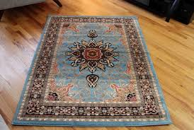 blue and gold oriental rug