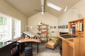 detached home office. Detached Studio Home Office Transitional With Drafting Table Blade Ceiling Fans