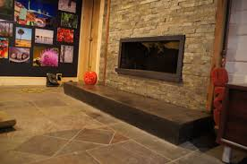 trendy concrete hearth by dsc