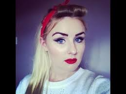 pin up 50 s inspired makeup and hair tutorial