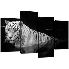 4 piece wall art black and white