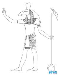 Seth Egyptian Goddess Gods Coloring Page