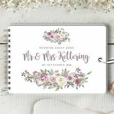 Wedding Guest Book Personalised Wedding Guest Book Frosted Rose Blank Message Book Photo Album Ebay