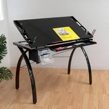 Studio Designs Futura Drafting Table With Glass Top Walmart Com
