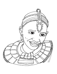 Small Picture African tribal woman coloring page Download Free African tribal