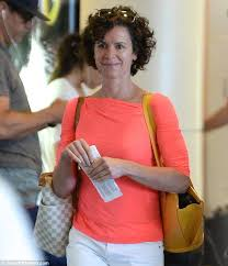 elizabeth vargas. smiles: elizabeth vargas was seen leaving los angeles airport over the weekend. she has l
