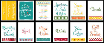 Recipe Binder Templates Recipe Binder Templates Clipart Images Gallery For Free