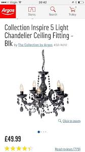 collection inspire 5 light chandelier ceiling fitting