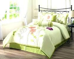 purple fl bedding sets green comforter set white queen beddi