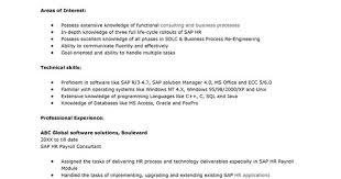 sap hr payroll consultant resume samplejpg 700990 pixels pin it by me pinterest resume sap hr payroll consultant resume