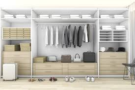 clean and organized walk in closet