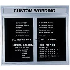 Custom Indoor Changeable Letter Boards from Seton.com, Stock items ...