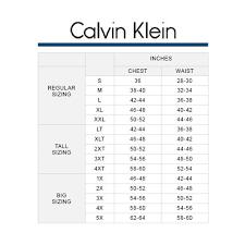 Calvin Klein Tops Size Chart Rldm