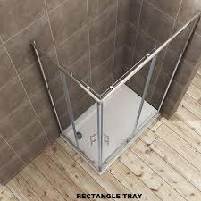 elegant 1200 x800 mm framed corner entry 6mm sliding shower enclosure set