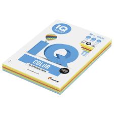 Купить <b>Бумага цветная IQ</b> color, А4, 160 г/м2, 100 л. (5 цветов x 20 ...