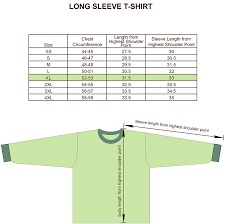 Sleeve Chart Size Charts For Products Projoy Sportswears And Apparel