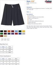 Badger Sportswear Size Chart Badger Sportswear Boys B Dry Performance Short White