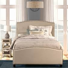 upholstered twin bed. Delighful Upholstered Kerstein Fabric Upholstered Bed In Light Taupe With Twin V
