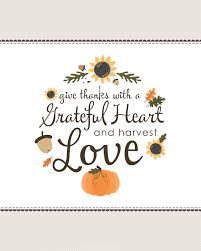 give thanks grateful heart quotes clipart