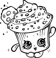 Small Picture Creamy Cookie Cupcake Coloring Page Wecoloringpage