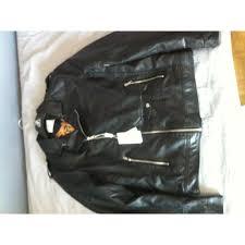 leather jacket emporio fashion black